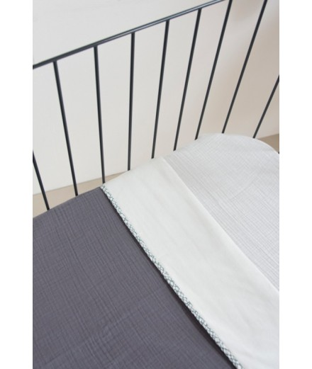 Double Blanket organic Grey