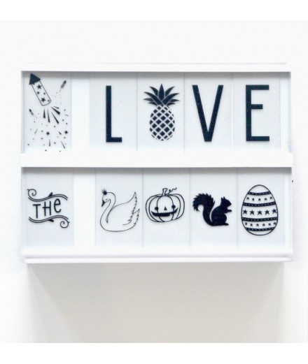 Lightbox letter set  Celebrations