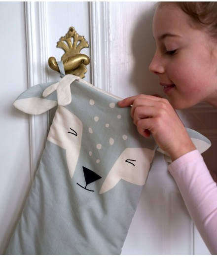 Christmas Stocking - Shy Fawn Mint