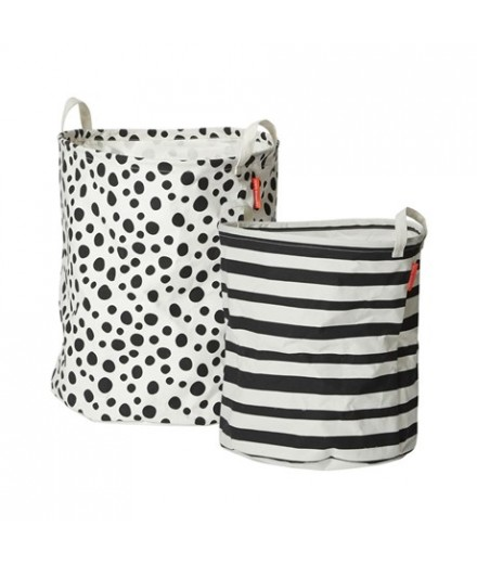 Soft Storage Basket Black - 2 pcs