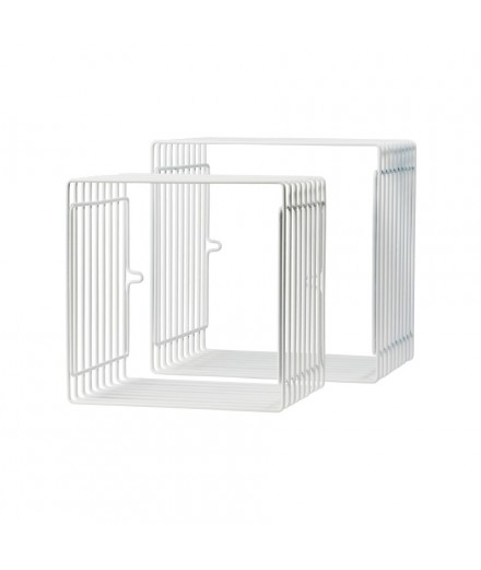 Square Wire Shelf - White
