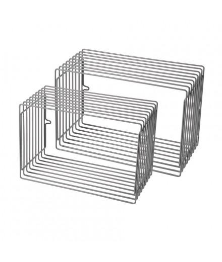Rectangle Wire Shelf - Grey