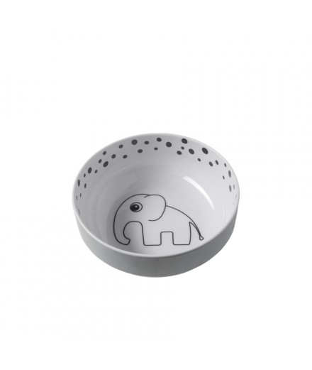 Happy Dots Yummy Bowl grey