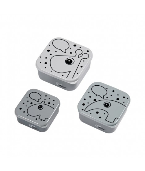 Snack box set 3 pcs, Contour grey