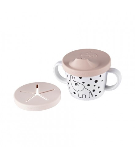 Spout cup Happy Dots Powder