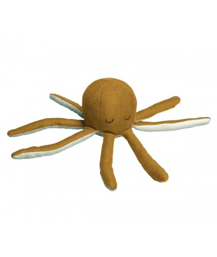 Rattle Soft Octopus Ochre