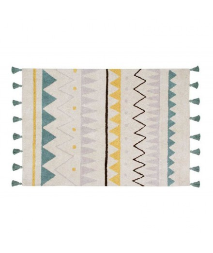 Washable rug Azteca Natural - Vintage blue