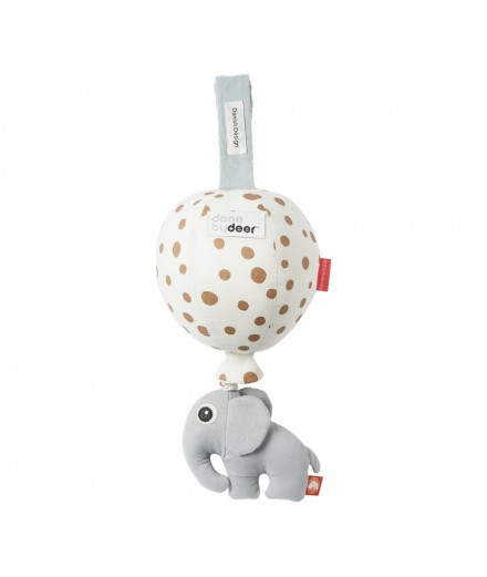 Musical Balloon Happy Dots - grey/gold