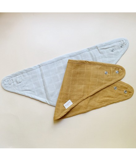 muslin bib 2 pack - neutral color