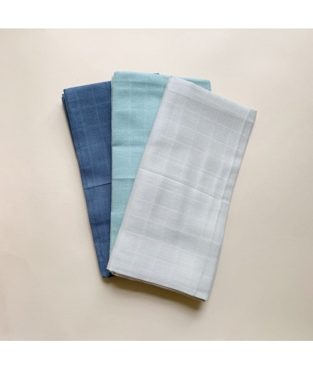 muslin cloth 3 pack - cold color