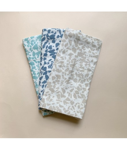 muslin cloth 3 pack - cold color terrazzo
