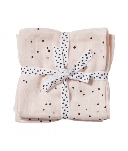Burps Cloth 2-pack Dreamy dots powder