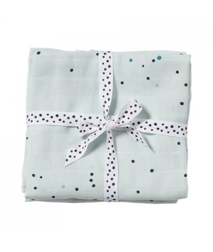 Burps Cloth 2-pack Dreamy dots blue