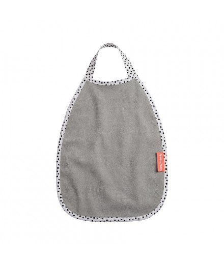 pullover terry bib happy dots grey