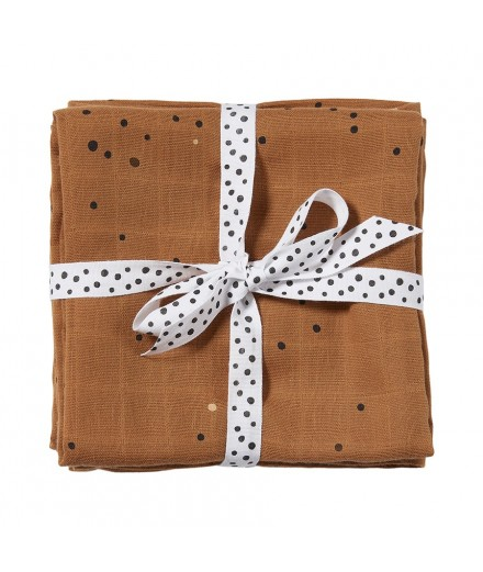 Swaddle 2-pack Dreamy dots mustard