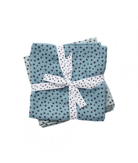 Swaddle 2-pack Happy Dots Blue
