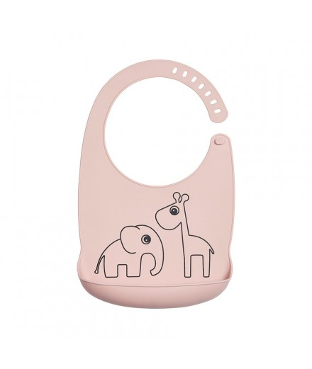 Babete silicone deer friends rosa