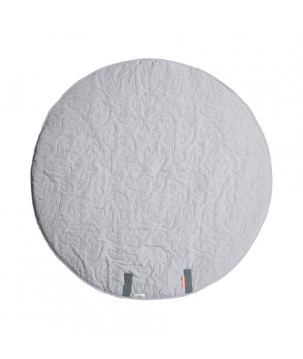 round play mat sleepy friends grey