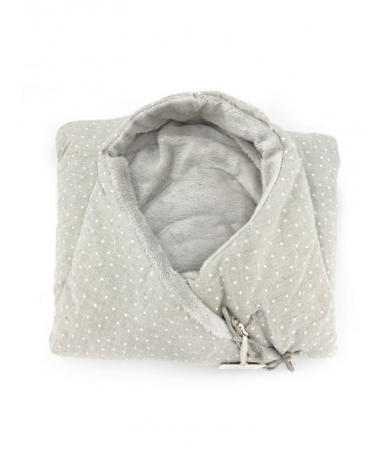WHITE MINISTAR FLEECE ANGEL NEST