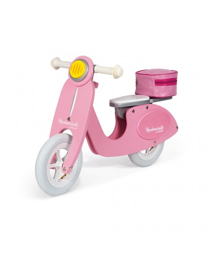 Bicicleta scooter rosa mademoiselle (madeira)