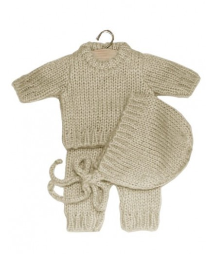 Gaspard set in wool - beige