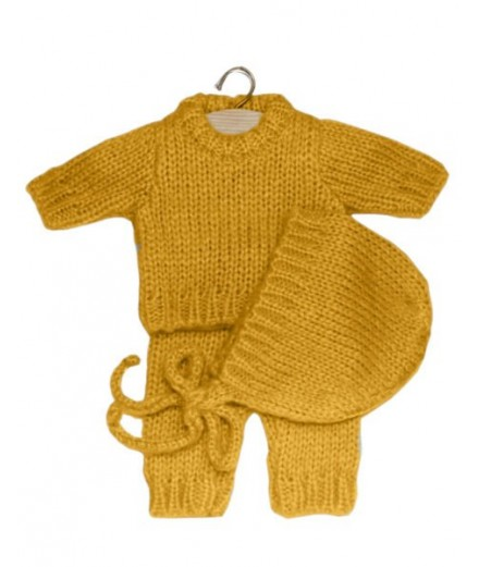 Gaspard set in wool - mustard