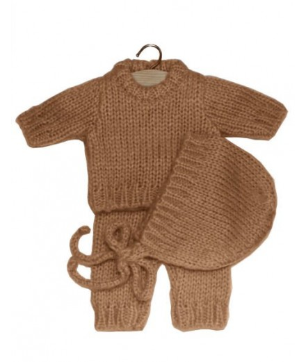 Gaspard set in wool - taupe