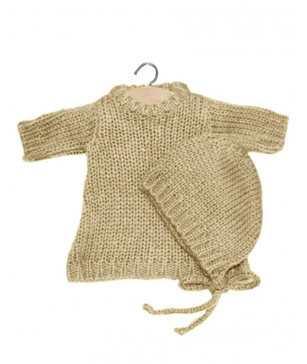 Gasparine set in wool - beige
