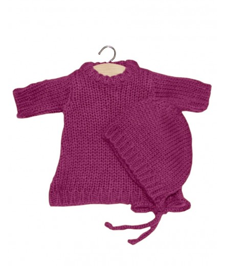 Gasparine set in wool - prune