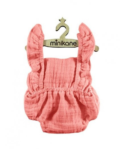 Lou retro romper in pink cotton
