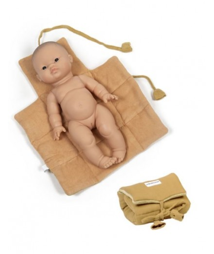 Dolls changing mat - mustard