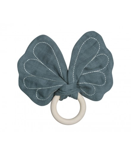 Butterfly Teether - blue spruce