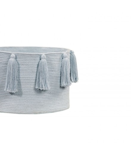 Basket Tassels Light Blue