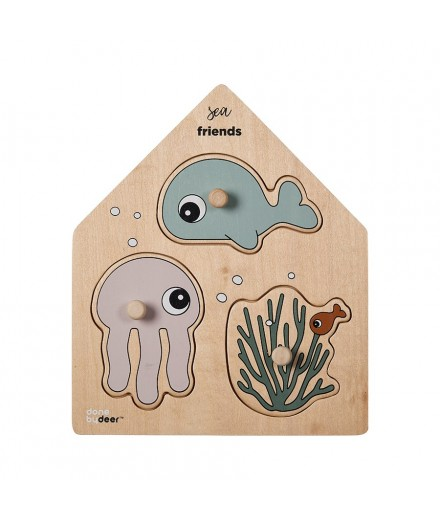 Peg puzzle - sea friends