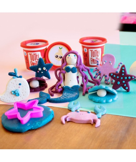 scented modeling dough - mermaids