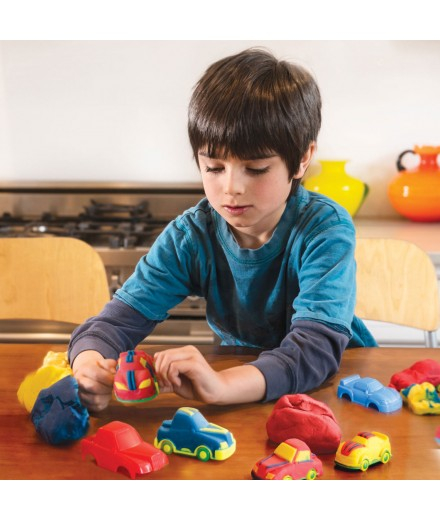 scented modeling dough - city cars
