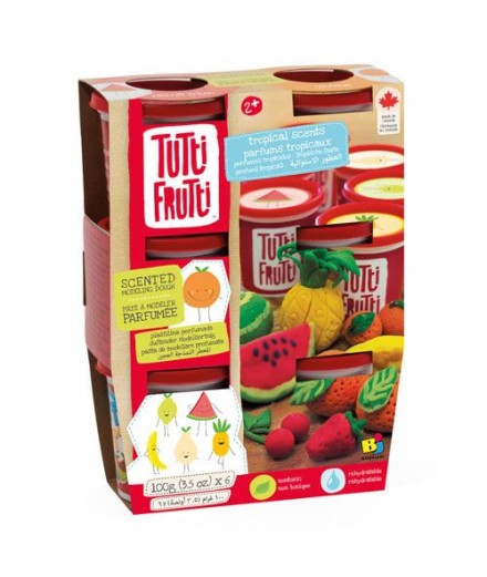 scented modeling dough - tropical 6 pack