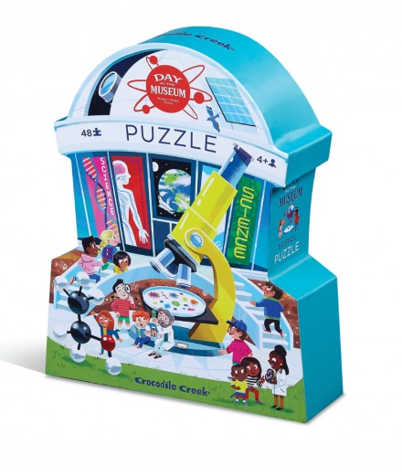 PUZZLE 48 PCS - DAY AT THE SCIENCE MUSEUM