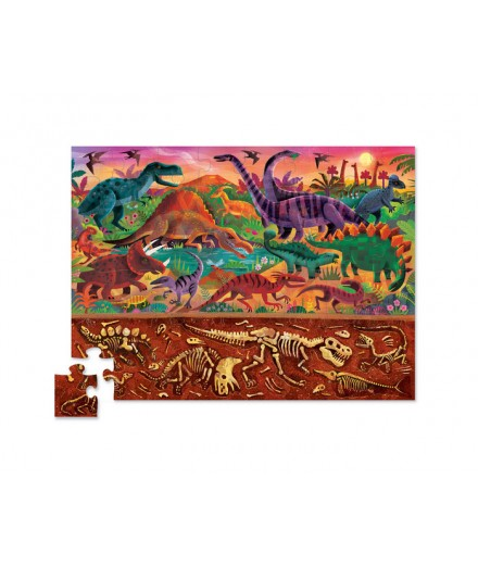 PUZZLE 48 PCS - ABOVE AND BELOW DINOSAURS