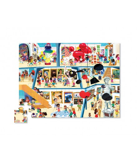 PUZZLE 48 PCS - DAY AT THE ART MUSEUM