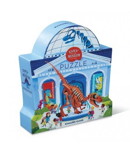 PUZZLE 48 PCS - DAY AT THE DINOSAUR MUSEUM