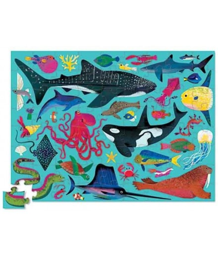 PUZZLE 72 PCS - SEA ANIMALS