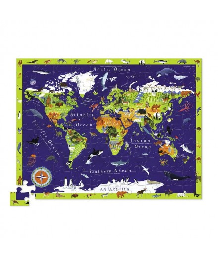 PUZZLE 100 PCS - DISCOVER THE WORLD