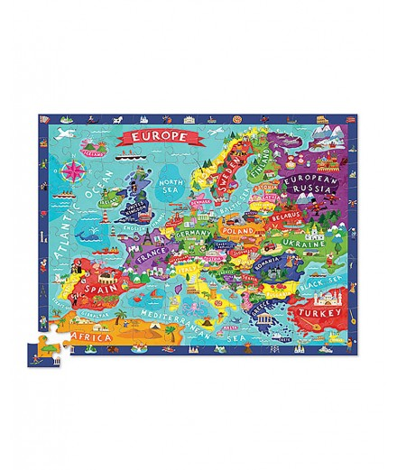 PUZZLE 100 PCS - DISCOVER EUROPE