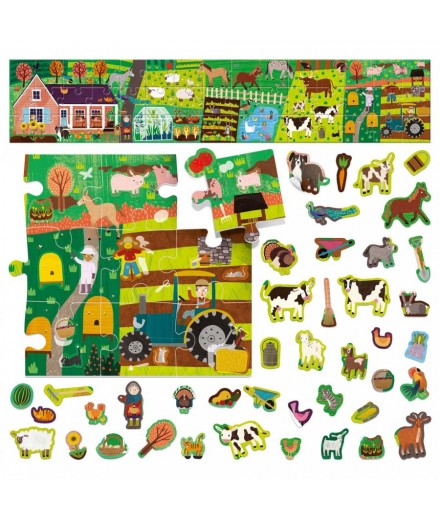 FARM STICKERS PUZZLE