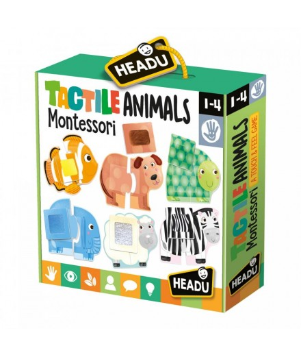Tactile animals puzzle montessori