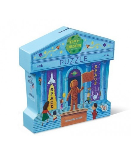PUZZLE 48 PCS - DAY AT THE SPACE MUSEUM