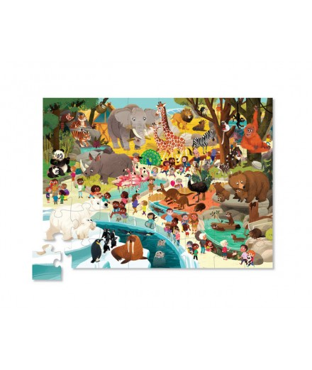 PUZZLE 48 PCS - DAY AT THE ZOO