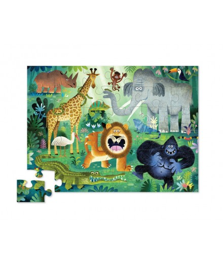 PUZZLE 36 PCS - WILD ANIMALS