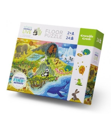 PUZZLE 24 PCS - CAN YOU FIND WHERE ANIMALS LIVE?